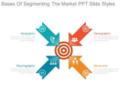 Bases Of Segmenting The Market Ppt Slide Styles