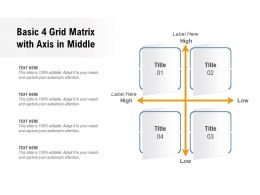 Basic 4 Grid Matrix With Axis In Middle