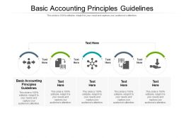 Basic Accounting Principles Guidelines Ppt Powerpoint Presentation Tips Cpb