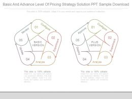 Basic And Advance Level Of Pricing Strategy Solution Ppt Sample Download