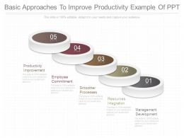 Basic Approaches To Improve Productivity Example Of Ppt