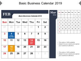 Basic Business Calendar 2019