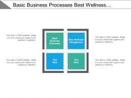 Basic Business Processes Best Wellness Management Team Profiling Cpb