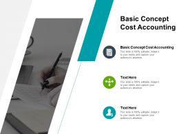 Basic Concept Cost Accounting Ppt Powerpoint Presentation Professional File Formats Cpb