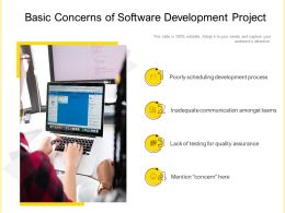 Basic Concerns Of Software Development Project