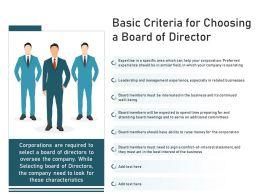 Basic Criteria For Choosing A Board Of Director