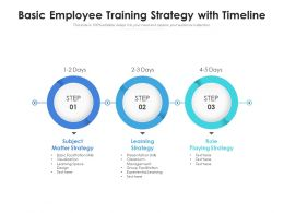 Basic Employee Training Strategy With Timeline