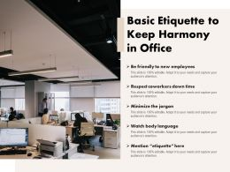 Basic Etiquette To Keep Harmony In Office