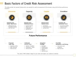 Basic Factors Of Credit Risk Assessment Inflow Ppt Powerpoint Presentation Layouts Pictures