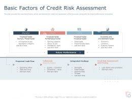 Basic Factors Of Credit Risk Assessment Ppt Powerpoint Presentation Ideas Slide