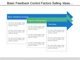 Basic Feedback Control Factors Selling Ideas False Faces