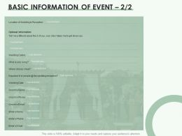 Basic Information Of Event Marketing Ppt Powerpoint Presentation Infographics Outfit