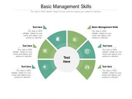 Basic Management Skills Ppt Powerpoint Presentation Summary Picture Cpb