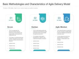 Basic Methodologies And Characteristics Of Agile Delivery Model