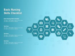 Basic Nursing Skills Checklist Ppt Powerpoint Presentation Outline Clipart