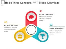 Basic Three Concepts Ppt Slides Download