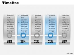 Basic Timeline Roadmap Diagram 0114