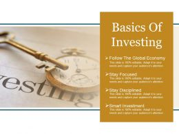 Basics Of Investing Powerpoint Layout
