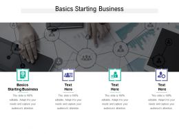 Basics Starting Business Ppt Powerpoint Presentation Model Example Cpb