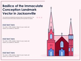 Basilica Of The Immaculate Conception Landmark Vector In Jacksonville Ppt Template