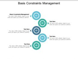 Basis Constraints Management Ppt Powerpoint Presentation Layouts Designs Cpb
