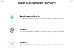 Basis Management Hierarchy Ppt Powerpoint Presentation Graphics Cpb