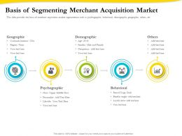 Basis Of Segmenting Merchant Acquisition Market Ppt File