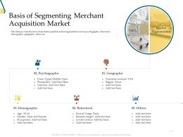 Basis Of Segmenting Merchant Acquisition Market Ppt Gallery
