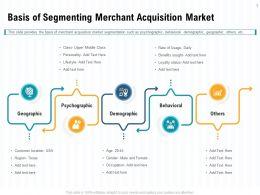 Basis Of Segmenting Merchant Acquisition Market Texas Ppt Powerpoint Presentation File Deck
