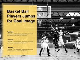 Basket Ball Players Jumps For Goal Image
