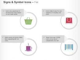 Basket Purchase Break Bar Code Ppt Icons Graphics