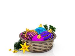 Basket With Colorful Decorative Lights Stock Photo