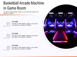 Basketball Arcade Machine In Game Room