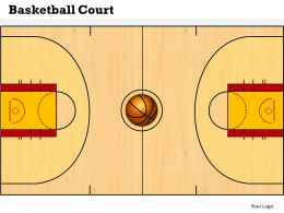 Basketball Court Powerpoint Template Slide