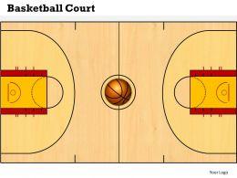 Basketball Court Powerpoint Template Slide
