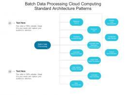 Batch Data Processing Cloud Computing Standard Architecture Patterns Ppt Presentation Diagram