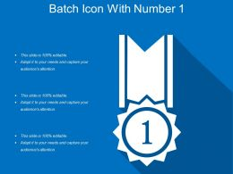 Batch Icon With Number 1