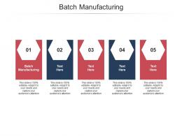Batch Manufacturing Ppt Powerpoint Presentation Summary Templates Cpb