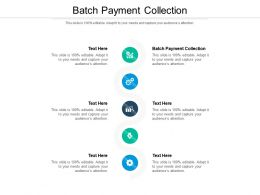 Batch Payment Collection Ppt Powerpoint Presentation Layouts Format Ideas Cpb