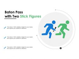 Baton Pass With Two Stick Figures