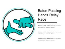 Baton Passing Hands Relay Race
