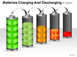 Batteries Charging Style 1 Powerpoint Presentation Slides