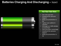Batteries Charging Style 3 Powerpoint Presentation Slides