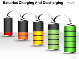 Batteries Charging Style 4 Powerpoint Presentation Slides