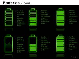 Batteries Icons Powerpoint Presentation Slides DB
