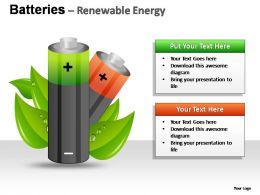 Batteries Renewable Energy Powerpoint Presentation Slides