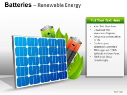 Batteries Renewable Energy Powerpoint Presentation Slides DB