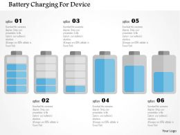 Battery Charging For Device Flat Powerpoint Design