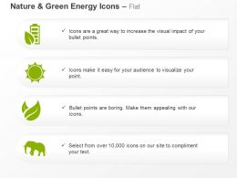 Battery Green Energy Plants Elephant ppt icons graphics