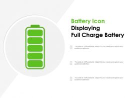 Battery Icon Displaying Full Charge Battery